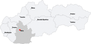 Situo de Nitra en Slovakio