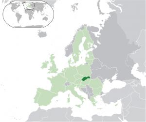 Situo de Slovakio en Eŭropo